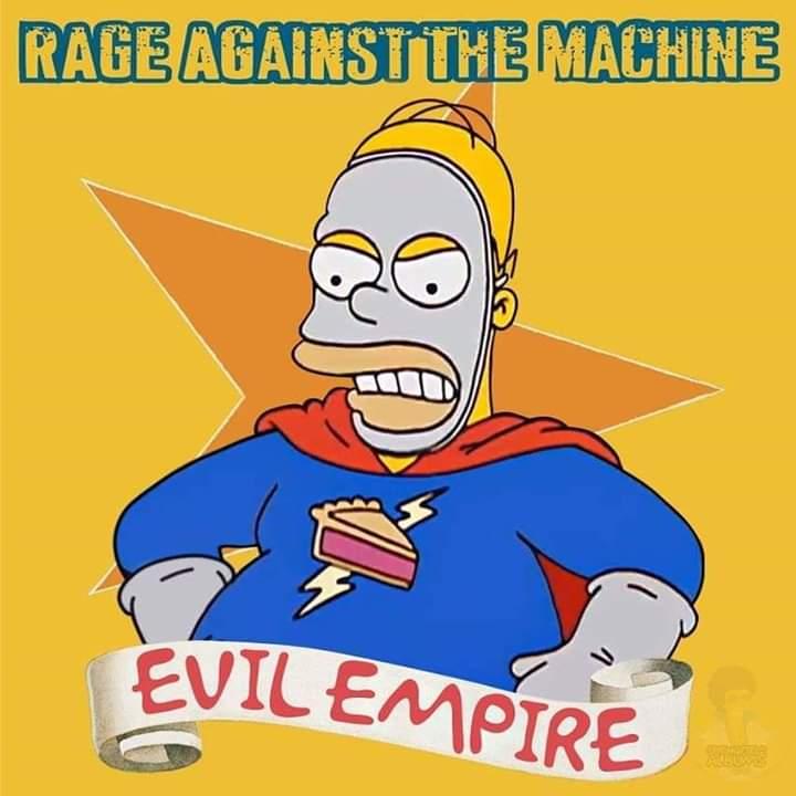 Las mejores portadas de rock evil empire simpson