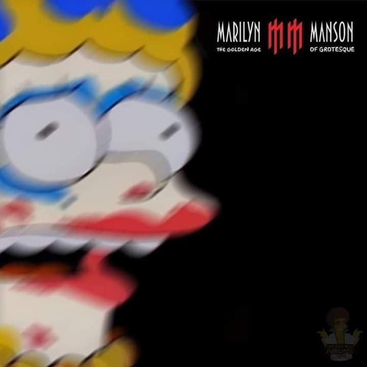 Las mejores portadas de rock marilyn manson simpson