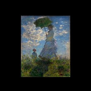 Monet Mujer con sombrilla