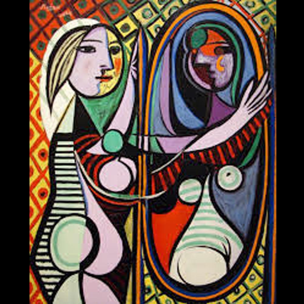 Picasso Chica frente al espejo