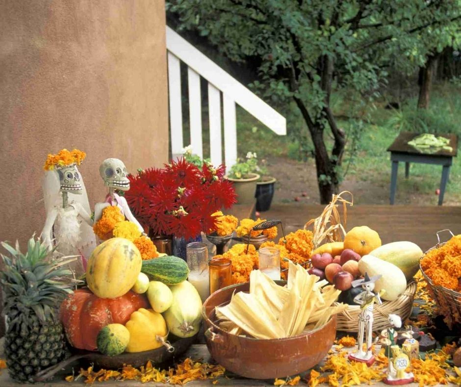 Día de Muertos frutas