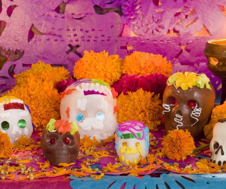 Día de Muertos calaveritas de azucar
