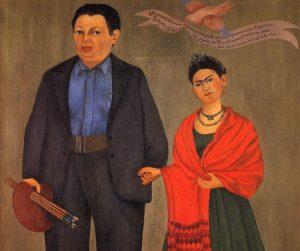 Frida Kahlo y su esposo