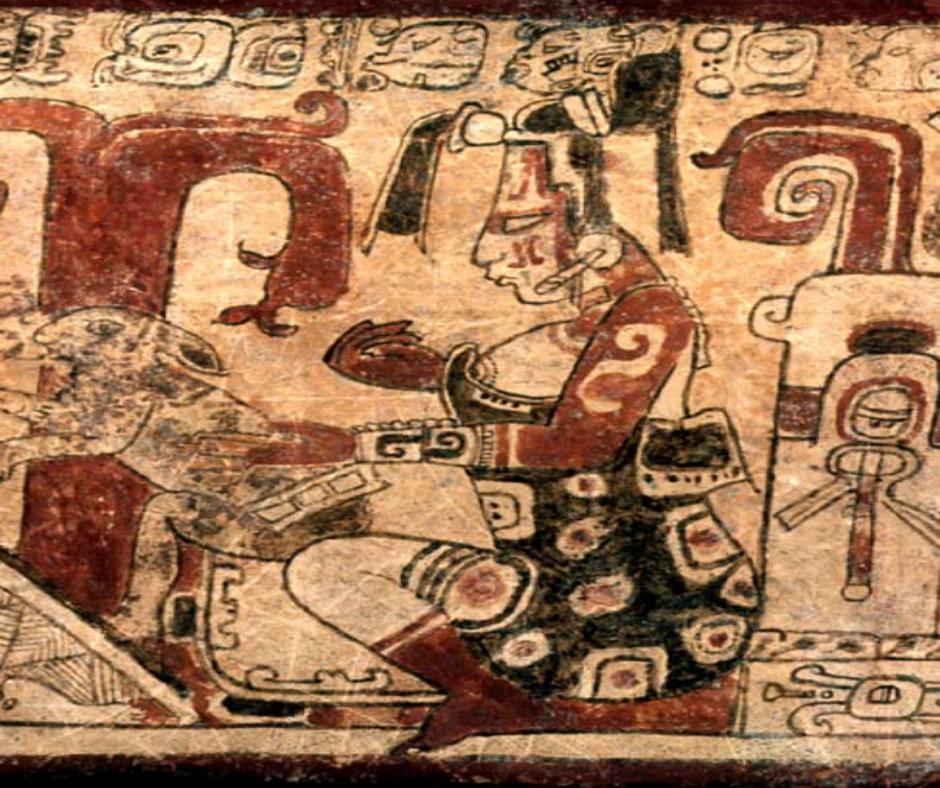 Mitología Maya pintura ruspestre